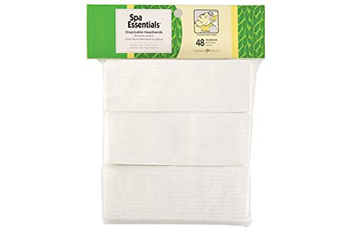 Graham Professional Products Spa Essentials Disposable Headbands, 48 Count, 1 Pack