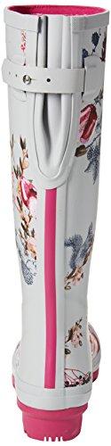 Slvhvfl Harvest para Joules Welly de Agua Plateado Mujer Silver Botas Print Floral qXPzwXZ