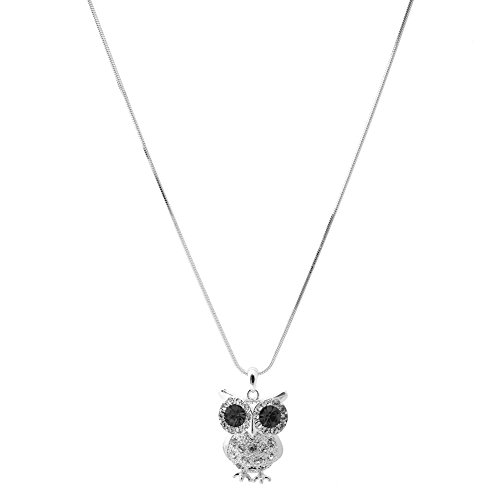 Spinningdaisy Silver Plated Black Necklace