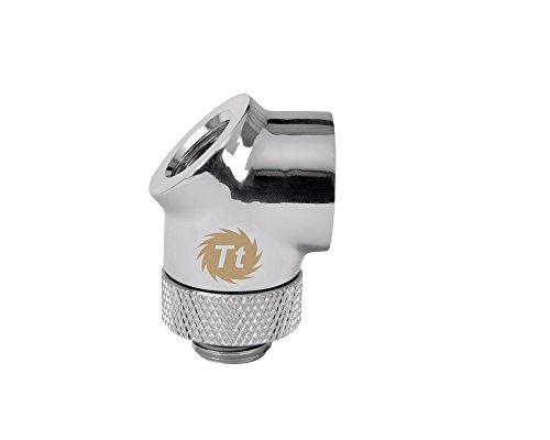Thermaltake Pacific DIY LCS Chrome G1/4 45 & 90 Degree Adapter Fitting Cooling - CL-W053-CU00SL-A