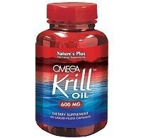 NaturesPlus Omega Krill Oil - 600 mg, 42% Standardized Phospholipids, 60 Capsules - High Potency Omega 3 Fatty Acid Supplement, Maximum EPA Absorption - No Fishy Smell - Gluten-Free - 60 Servings by Nature's Plus