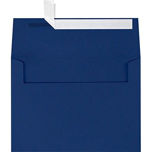 A9 Invitation Envelopes w/Peel & Press (5 3/4 x 8 3/4) - Navy Blue (500 Qty) | Perfect for Invitations, Announcements, Sending Cards, Half-Folded Sheets | Printable | 80lb Paper | LUX-4895-103-500 by Envelopes.com