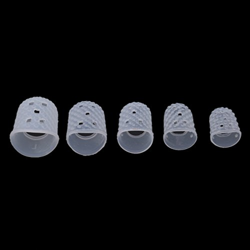 SOURBAN 15pcs Finger Protectors Silicone Finger Tips Rubber Protection Non-Stick Covers Gel Finger Cots for Hot Glue Gun Sewing Adhesives Scrapbooking Instrument