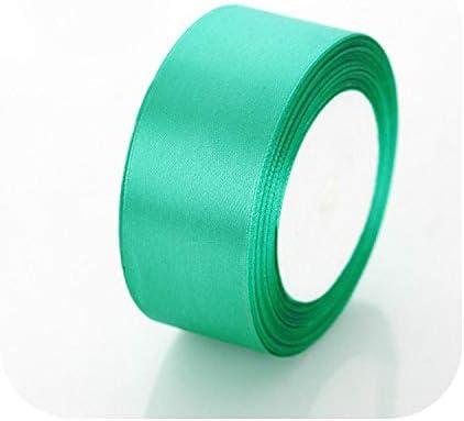 kawayi-桃 6mm 10mm 15mm 20mm 25mm 40mm 50mmサテンリボンホワイトピンクレッドブルーパープルグリーンブラックイエローオレンジリボン34色ピックアップ-54 Blue Green-40mm