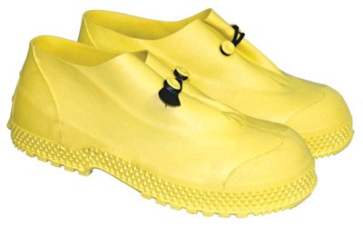 "64055786 4"" PVC Slip-On Over Boots Self-Cleaning Tread Outsole Small Yellow"