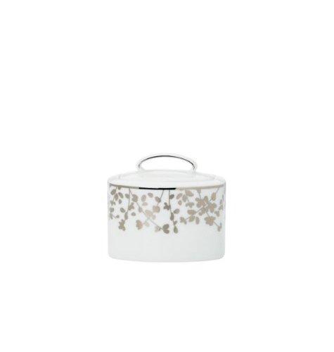 Kate Spade New York Women's Gardner Street Platinum Sugar Bowl with Lid White -