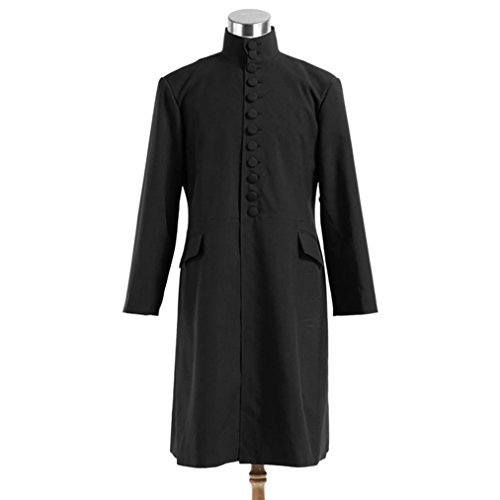 Men's Professor Severus Snap Black Robes Cosplay Halloween Costumes by Costume Party Heart (Image #2)