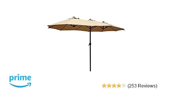Amazon Com Le Papillon 14 Ft Patio Outdoor Umbrella Double Sided