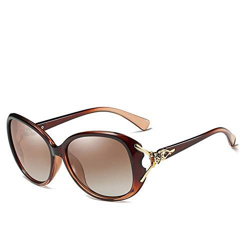 2b2838e56447 Fragrancety 2019 New Large Frame Sunglasses Women Elegant Goggles Fashion  Shades Eyewear Fox,C04 BROWN