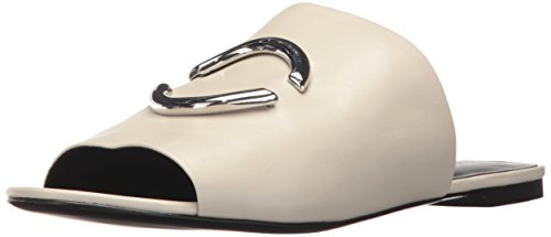 Via Spiga Women Shoes - Via Spiga Women's Helena Slide Heeled Sandal, Bone Leather, 9 Medium US