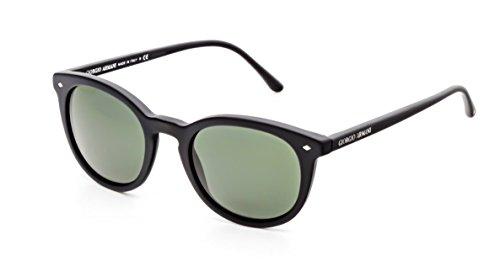 (GIORGIO ARMANI AR8060F - 5042R5 Sunglasses Matte Black w/Green Lens)