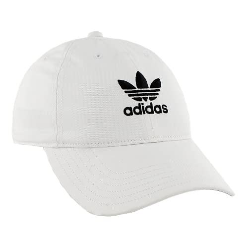 adidas Originals Men's Relaxed Strapback Cap, White/Black, ONE SIZE