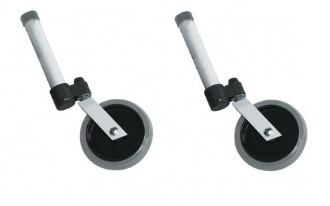 Extension Guardian Walker - Medline Front Wheel Attachments | 5-Inch Swivel | Guardian Walkers (Pair)