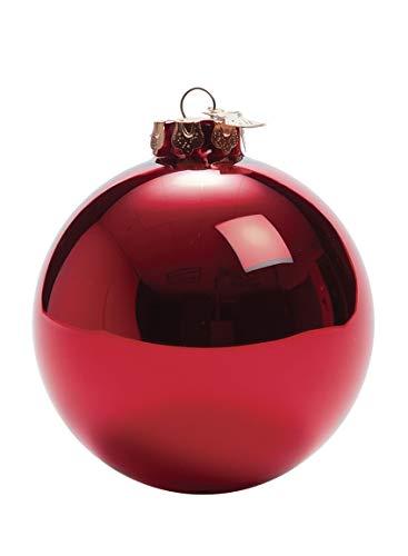 Sullivans Shiny Round Ball Christmas Ornaments, Set of 4, 4
