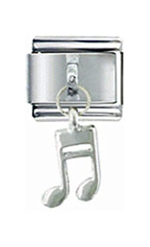 Stylysh Charms Music Eighth Musical Note Dangle Italian 9mm Link MD042