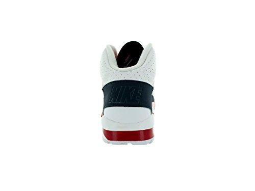 Nike Air Trainer SC High unisex adulto, pelle liscia, sneaker alta White/Metallic Platinum-hyper Cobalt-dk Mg