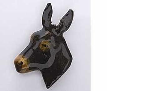 Cabeza de mula~~pintado de color marrón oscuro de imán del ...