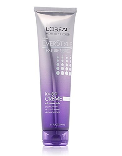 Texture Series (L'Oreal Paris EverStyle Texture Series Tousle Creme, 5.1 Fl Oz + FREE Luxury Luffa Loofah Bath Sponge On A Rope, Color May Vary)