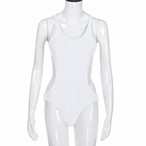 Costume Donna Di Imbottita Pezzo Da Push Benda Scollato Intero Bianco Costumi Bikini Bagno kword Un up Donne Schienale rtrq4OFw