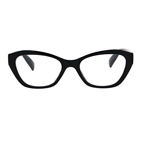 Womens Luxury Fashion Narrow Cat Eye Style Plastic Frame Reading Glasses Black - Luxury Reading Glasses