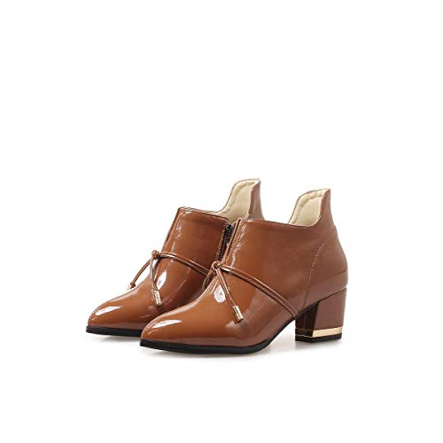 Stivaletti Donna Punta Tacco Con Alti Boots Caramel Women's A Corta Da TwxaFnAq5