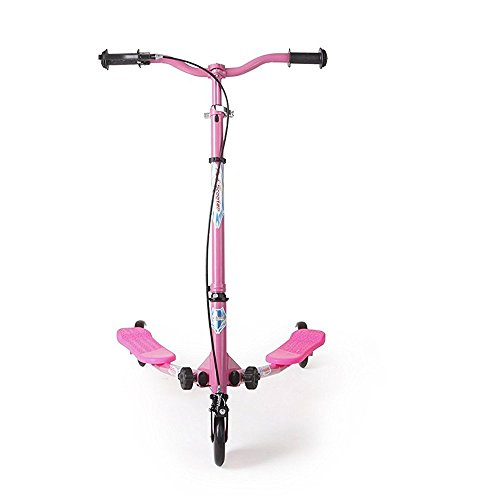 AODI Wheel Foldable Kick Scooter Push Outdoor Sports Height Handlebar Pink Over 5 Year Older- Multiple Colors