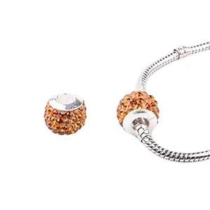 Orange acrílico Grass bricolaje Cuentas Full- Cristal de Alta Calidad para el collar o pulsera