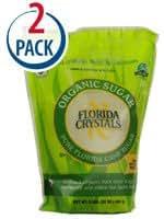 Florida Crystals Cane Sugar Organic -- 2 lbs Each / Pack of 2