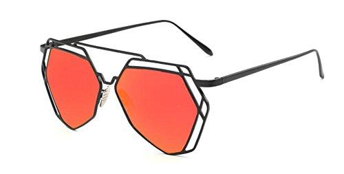 vintage polarisées cercle Lennon lunettes Mercure retro du en soleil métallique Rouge rond inspirées style de EEqAvw0
