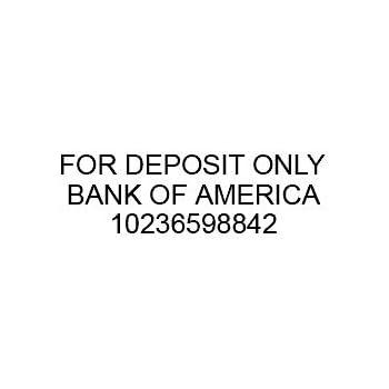 Custom For Deposit Only Stamp (3 Lines)
