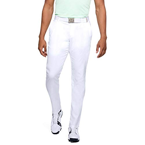 Under Armour Men's Showdown Tapered Pants, White (100)/White, ()