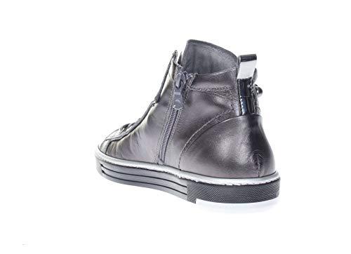 Zapatos Nero Para De Giardini Cordones Plomo Mujer p45Fw4