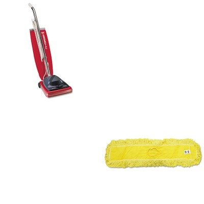 KITEUKSC684FRCPJ15500YEL - Value Kit - Rubbermaid-Dust Mop, Trapper, Looped, 36X5 (RCPJ15500YEL) and Commercial Vacuum Cleaner, 16quot; (EUKSC684F)