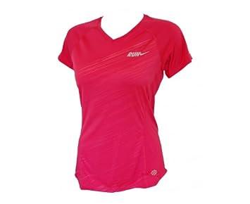 Nike T-shirt à manches courtes pour femme Embossed Rose Rouge xl ... 1924087f4e31