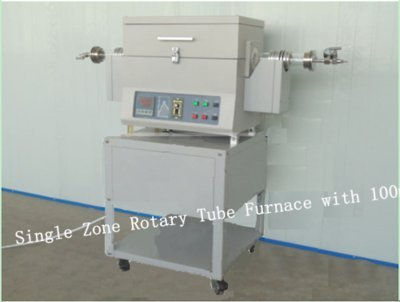 GOWE Single Zone Rotary Tube Furnace with 100mm /60mm Quartz Tube, 1200C Max tilting rotary furnace