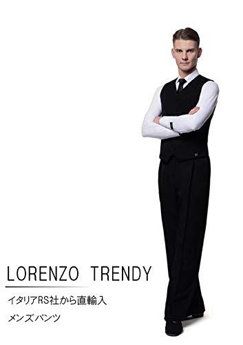 【ポイント10倍】 (アールエスアトリエ) RS Atelier RS 「LORENZO Trendy(Black Stripe Black)」 Trendy(Black|男性用パンツ| Atelier 社交ダンス|レッスンウェア|ダンス|メンズ|男|男性|パンツ|スタンダード|競技|モダン|タンゴ|ワルツ|デモ|ストレッチ B072X33NRK 52(94cm)サイズ, クリエイションファクトリー:1f172ae1 --- 4x4.lt
