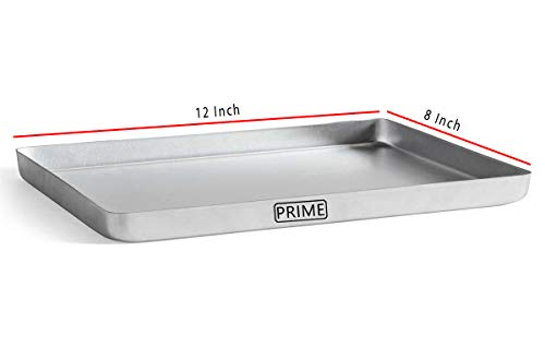 Prime Bakers and Moulders 12 inch by 8 inch Joint Free Aluminium Baking Tray for Oven, Multipurpose pan Price & Reviews