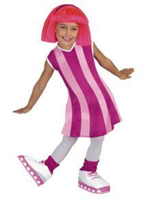 Disguise Stephanie Deluxe Lazy Town Cartoon Network Costume, Medium/3T-4T, One Color by Disguise (Stephanie Lazy Town Costume)