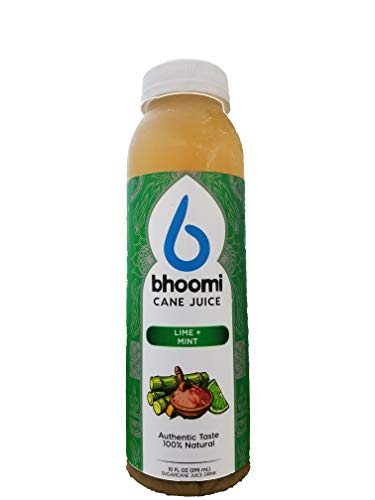 (Bhoomi Cane Juice - Authentic and 100% Natural (Lime + Mint, Pack of 6))