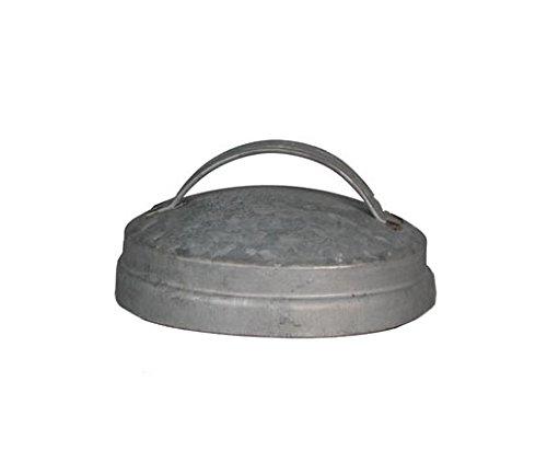 Gray Zinc Mason Jar Lid With Handle - 3.5in. - Set Of 6