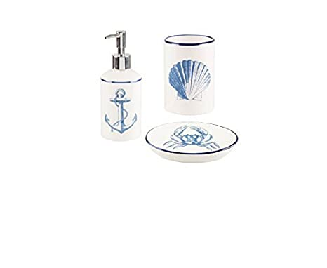 Accessori Bagno Vintage : Hunky dory set vintage di bagno nautiche accessori mare costiero