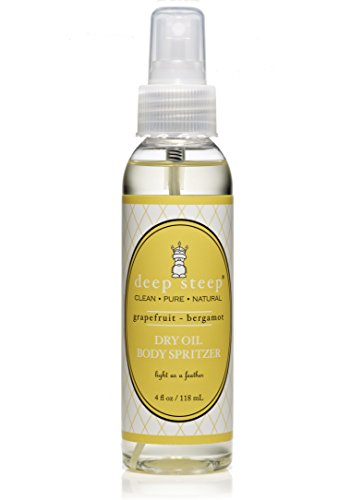 Deep Steep Dry Oil Body Spritzer, Grapefruit Bergamot, 4 Fluid (Dry Oil Spritzer)