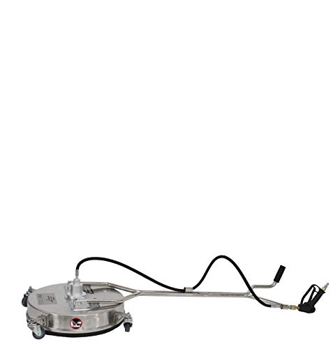 "Erie Tools 21"" Stainless Steel Pressure Washer Flat Surface Cleaner with Wheels"