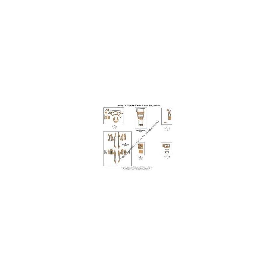 Nissan Murano (set 2) Dash Trim Kit 03 04   73 pieces   Zebrano wood (10 221)