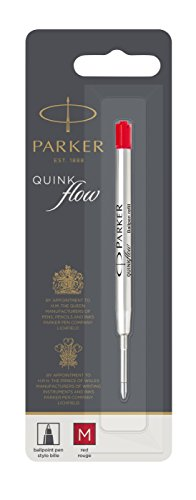 Parker Quinkflow Ball Pen Refill Medium Nib, Red