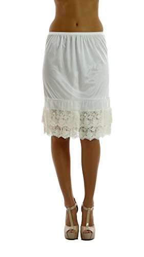 Double Lace Half Slip Satin Skirt Extender- 21