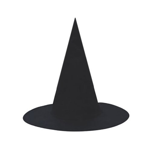 SeasonsTrading Black Witch Hat ~ Halloween Witch Costume Accessory -
