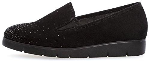 Gabor Shoes Comfort Sport, Ballerines Femme schwarz (Strass)