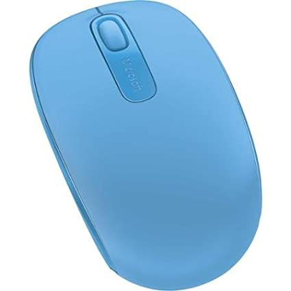 65f58eb7d0c Microsoft Wireless Mobile Mouse 1850 - Optical - Wireless - Radio Frequency  - Cyan Blue - Usb 2.0 - 1000 Dpi - Computer - Scroll Wheel - 3 Button[s] ...