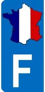 Pegatina con mapa de Francia y la letra F en la parte izquierda, placa de matrícula de coche, de 9,8 x 4,5 cm: Amazon.es: Coche y moto
